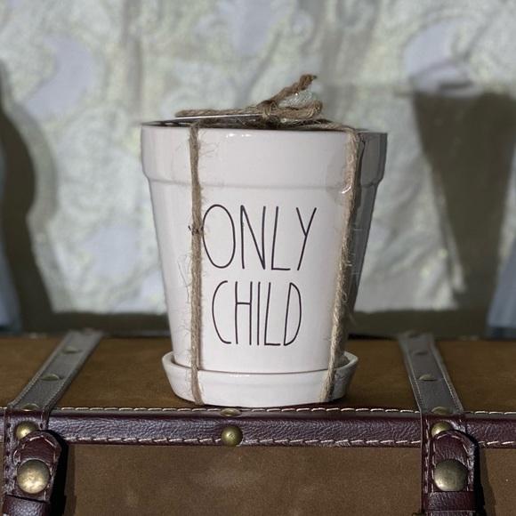 "Rae Dunn ""ONLY CHILD"" Mini Planter"